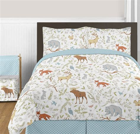 Woodland Toile Comforter Set 3 Piece Full Queen Size By Toile Bedding Set