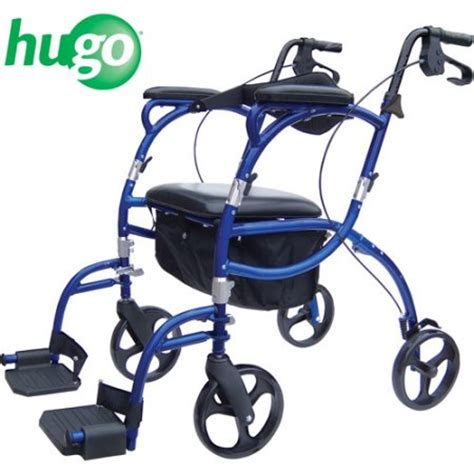 hugo walker transport chair hugo navigator combo rollator walker transport