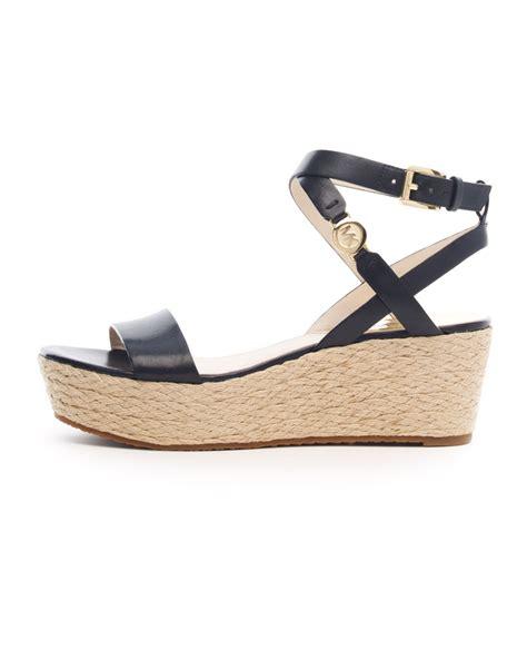 Sandal Wedges Wg12 Black 1 lyst michael kors jalita platform sandal in black