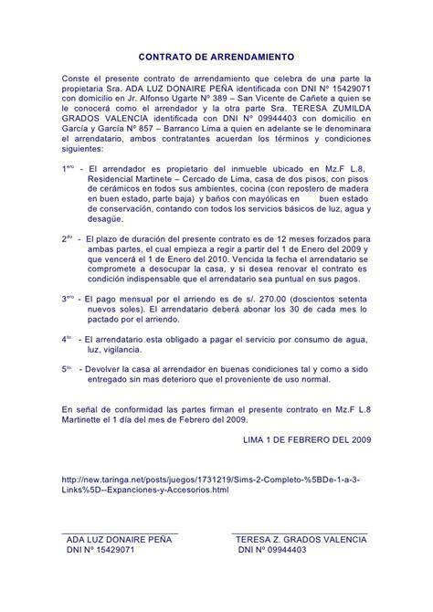 contratos modelo modelo de contrato de arrendamiento de local de negocio