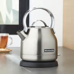 Kitchen Gizmo Electric Kettle Kitchenaid 174 Silver Electric Kettle Crate And Barrel