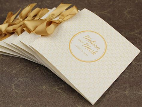 wedding program booklet template free 70 s glam gold program booklet diy project featured on