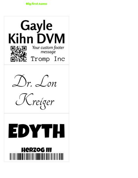 microsoft name badge template
