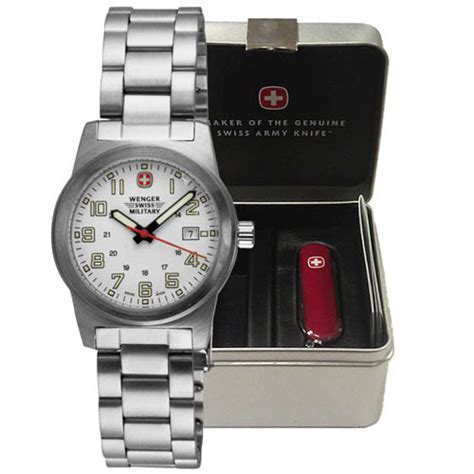 Swiss Army Sa88 White Silver wenger swiss watches