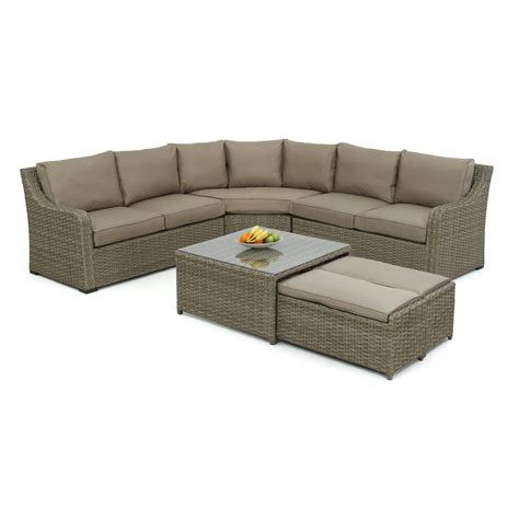 maze rattan milan 7 seater sectional sofa set with