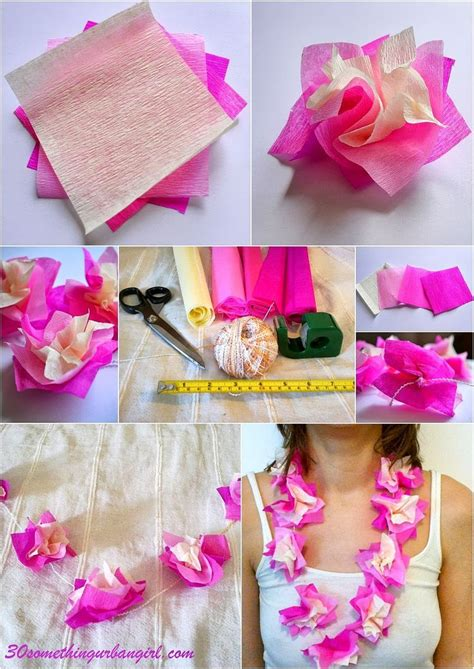 How To Make Paper Leis - how to make paper hawaii diy make paper paper