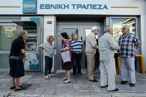 io in fila al bancomat tra i greci stupiti e umiliati