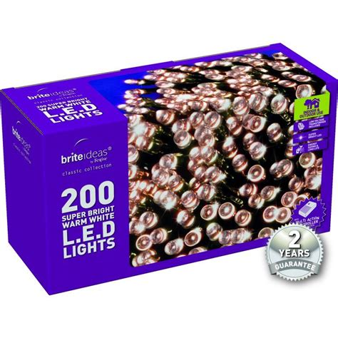 200 warm white led lights 200 warm white led lights with a 2 year