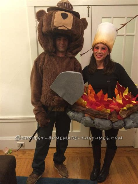 original smokey  bear  camp fire couple costume