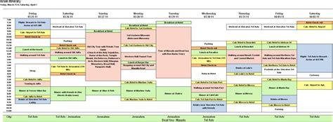travel schedule template excel printable schedule template