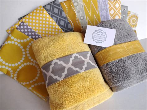 Designer Kitchen Towels by You Pick Custom Yellow And Gray Towels Custom Grey And Yellow