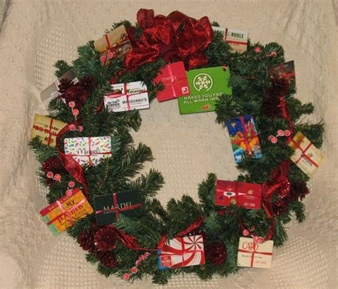 gift card wreath as a group gift gifts pinterest - Gift Card Wreath