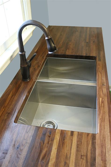 undermount sink butcher block how to cut seal install butcherblock countertops with