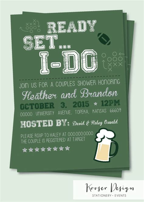 Couples Shower Invitations Etsy by Items Similar To Tailgate Football Bridal And Couples