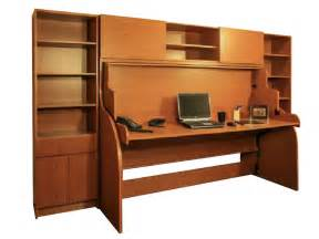 space saving desk bed multifunctional small double wall bed desk cupboards