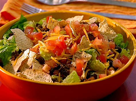 beef taco salad beef taco salad with chunky tomato dressing recipe a day