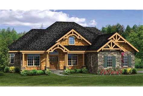 ranch home floor plans with walkout basement eplans craftsman house plan craftsman ranch with