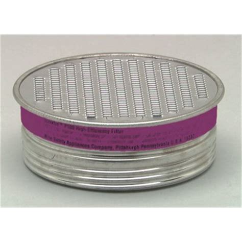 Filter Msa msa 815177 low profile p100 filter for comfo respirator in pack of 10
