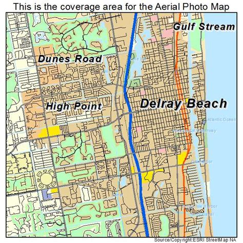 aerial photography map of delray fl florida