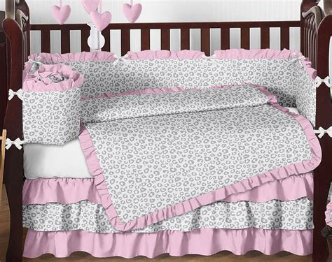 Pink Leopard Crib Bedding Animal Print Nursery Bedding Thenurseries