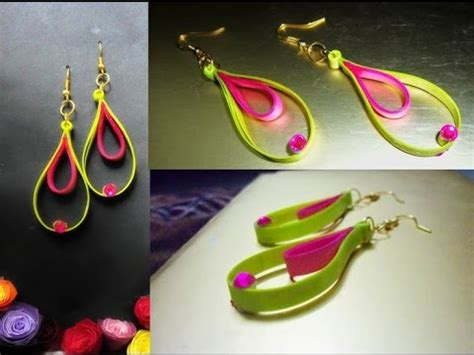 Paper Craft Paper Quilling Handmade Jewelry Earrings - papercraft handmade jewelry quilling paper earrings