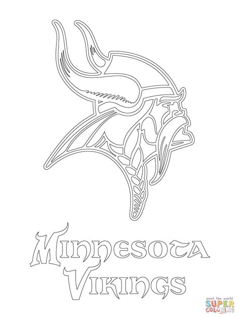 nfl symbols coloring pages minnesota vikings logo super coloring