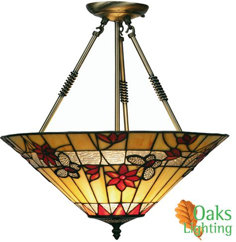 Oaks Lighting Butterfly Tiffany Ceiling Light Ot 2612 Butterfly Ceiling Light