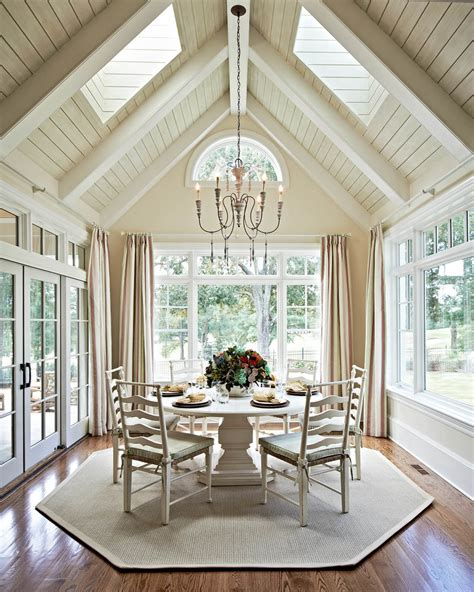 Rooms With Vaulted Ceilings by Cathedral Ceilings Dining Room Traditional With Chandeleir
