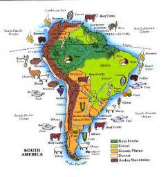 south america resources map south america map