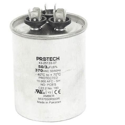 capacitor substitution 43 23204 14 rheem oem replacement dual run capacitor 50 3 uf mfd 370 volt best builder su
