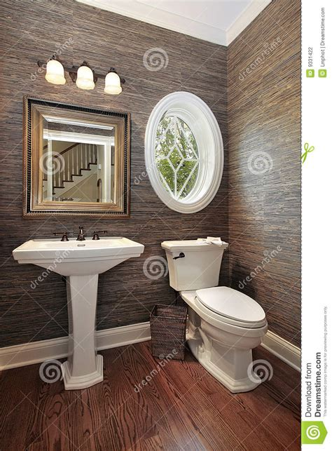 powder room in luxury home stock photography image 9331422