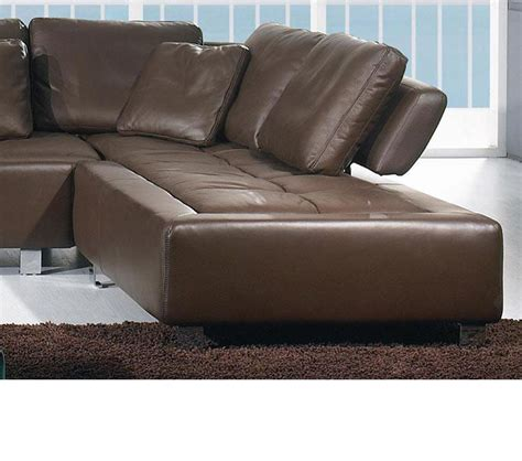 Brown Leather Sofa Sectional Dreamfurniture Bo 3878 Contemporary Brown Leather Sectional Sofa