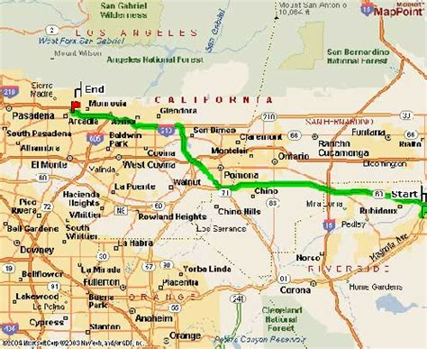 arcadia california map from irvin area from santa area from