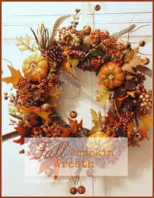 fall wreaths fall pumpkin wreath tutorial stonegable