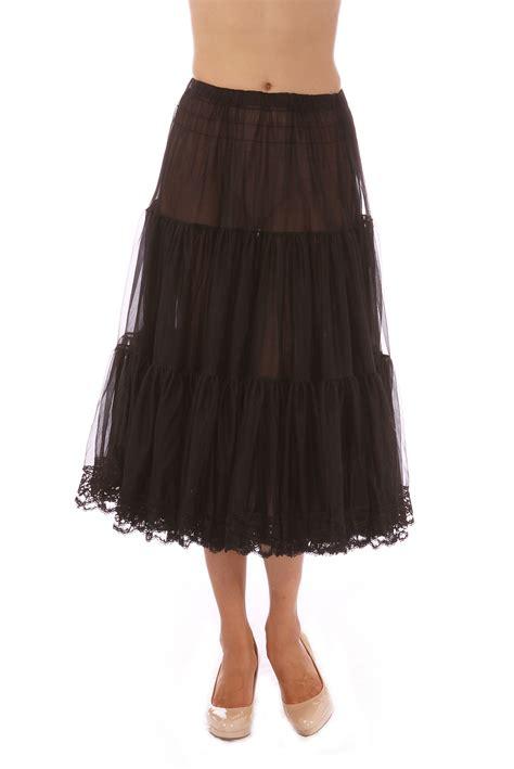 ebay petticoats malco modes tea length chiffon crinoline petticoat underskirt slip w lace ebay