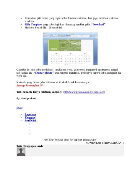 membuat makalah dengan microsoft word 2007 cara membuat kalender sendiri dengan microsoft word 2007