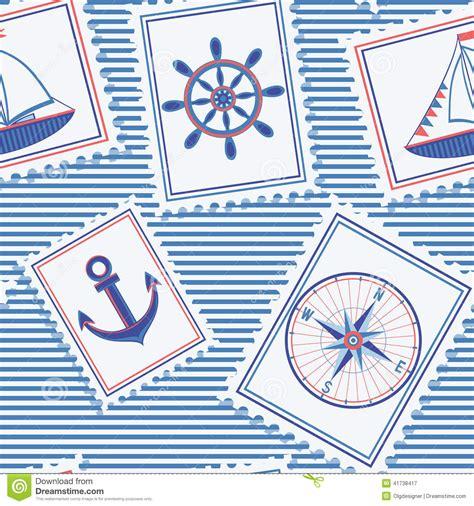 cute nautical pattern marine seamless pattern stock vector image 41738417