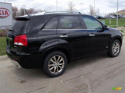 2011 Kia Sorento Black Black 2011 Kia Sorento Sx V6 Awd Exterior Photo