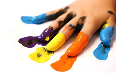 wallpaper palm finger paint color desktop