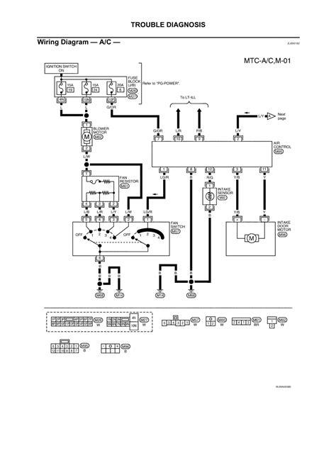 diagram for wiring of blower motor on 2005 nissan xterra