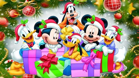 merry christmas  mickey  friends desktop hd wallpaper  pc tablet  mobile