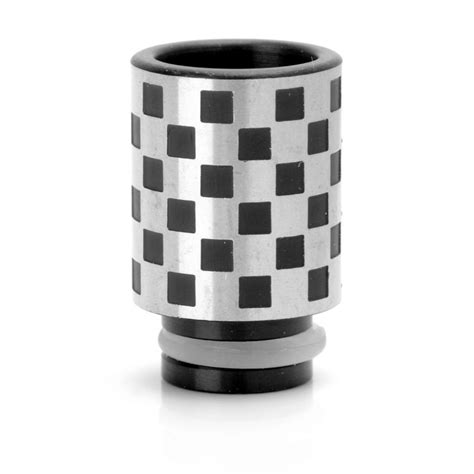 B 510 Drip Tip Silver buy plaid pattern 510 drip tip silver black stainless