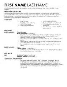 where can i free resume templates varieties of resume templates and sles