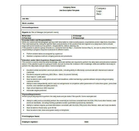 description form template sheet templates 22 free word excel pdf documents