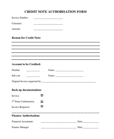 Credit Note Template Ireland 7 credit note templates free sle exle format