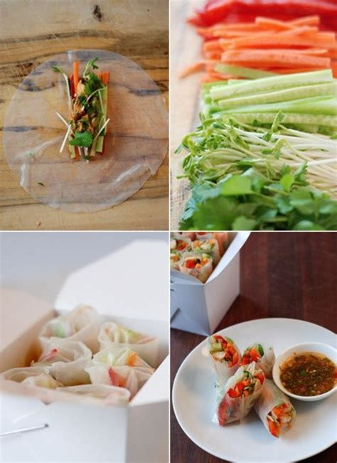 How To Make Vegetarian Rice Paper Rolls - discover and save creative ideas