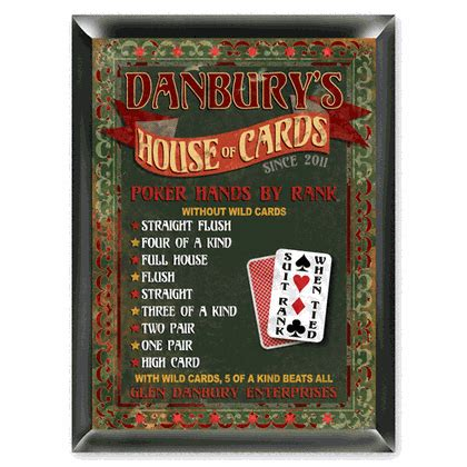 House Of Cards Gift Ideas - house of cards pub sign personalized bar sign wall decoration