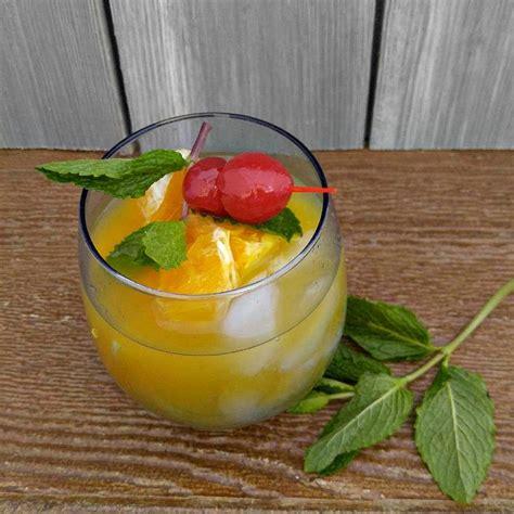 orange cherry mocktail recipe  gardening cook