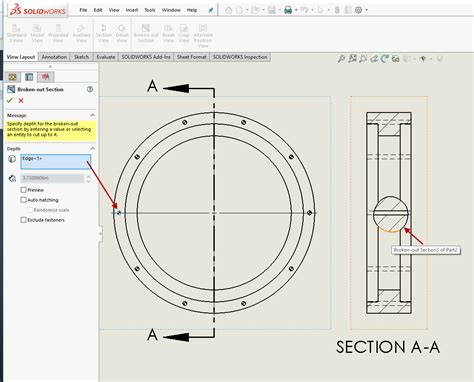 solidworks section view solidworks 2018 what s new broken out section views