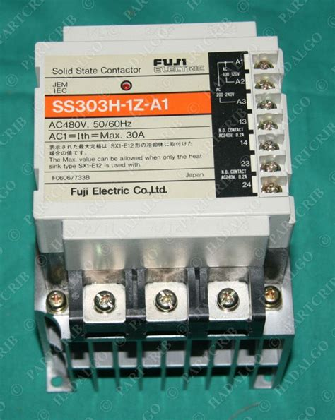 fuji ss303h 1z a1 solid state contactor starter 30a new ebay